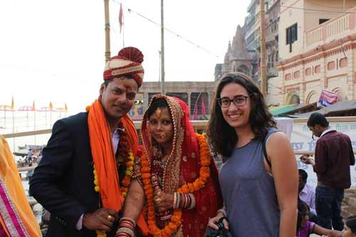 Pareja recién casada en India