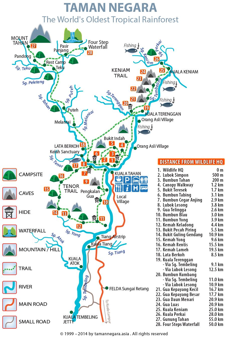 Mapa Taman Negara