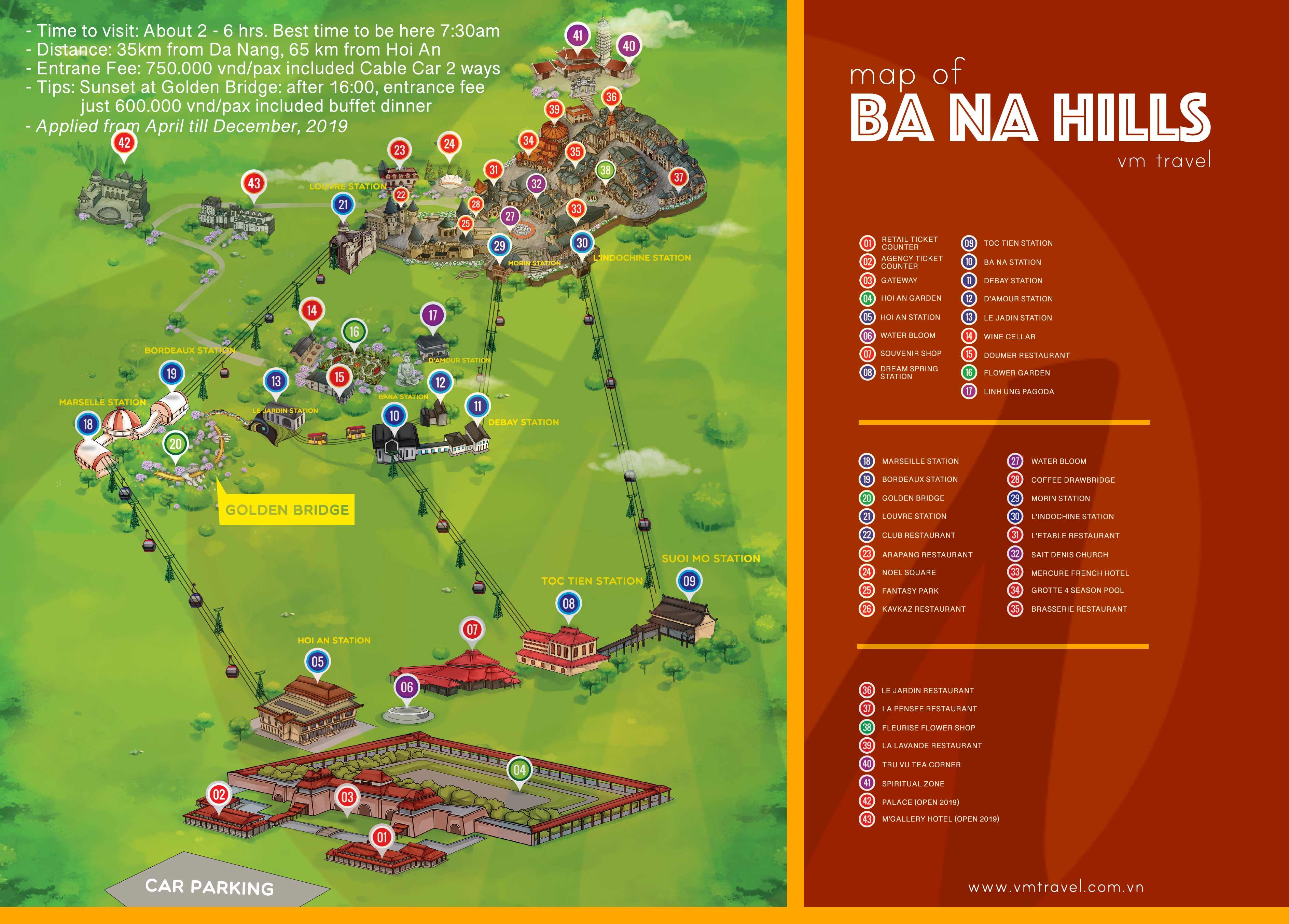 mapa del ba na hills
