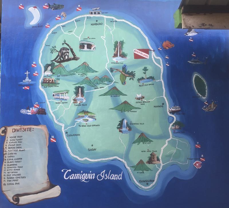 Bucear en Camiguin, Filipinas