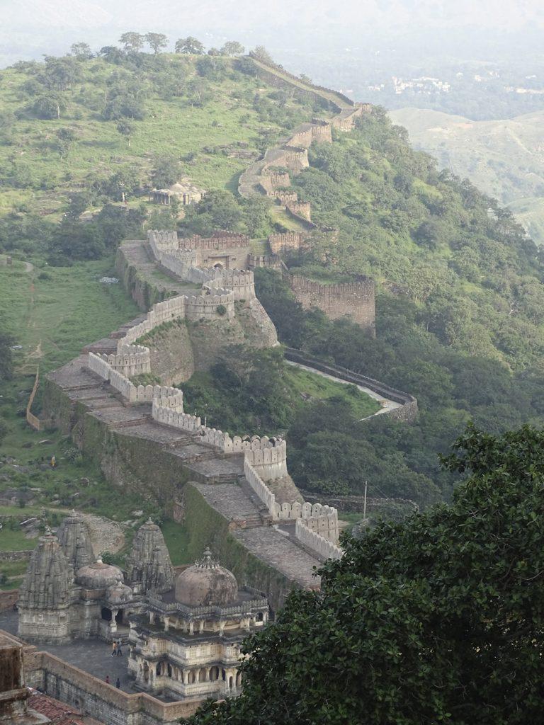 fuerte de Kumbhalgarh, India