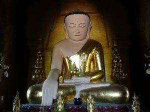 interior de un templo, Myanmar