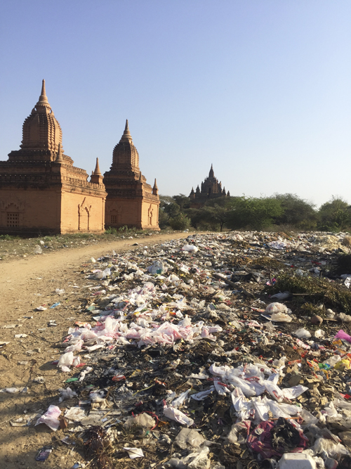 Vertedero de basura en Myanmar