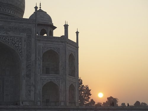 Visita al Taj Mahal, India