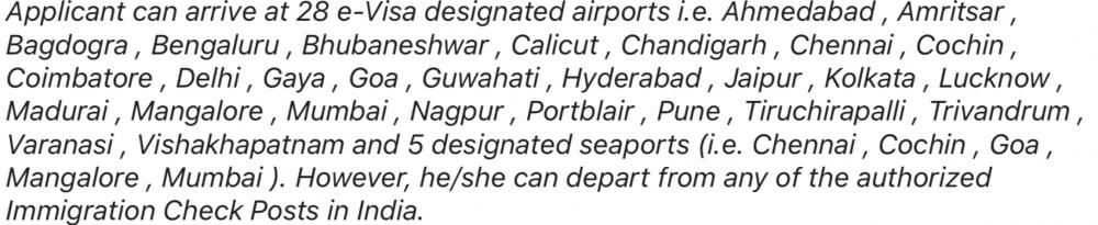 Visado electrónico de Turista, India