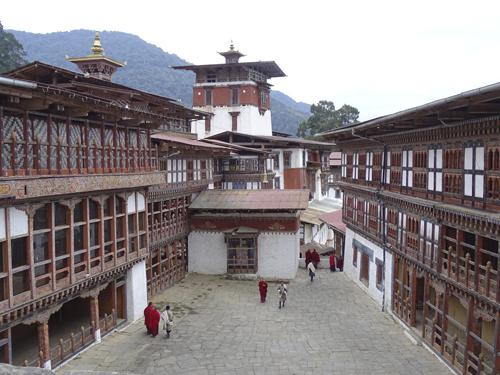 Interior del Dzong de Trongsa