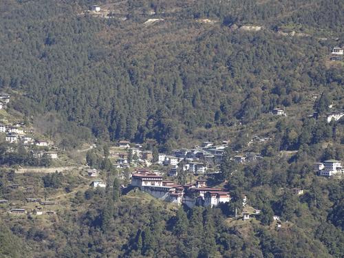 situación del Dzong de Trongsa