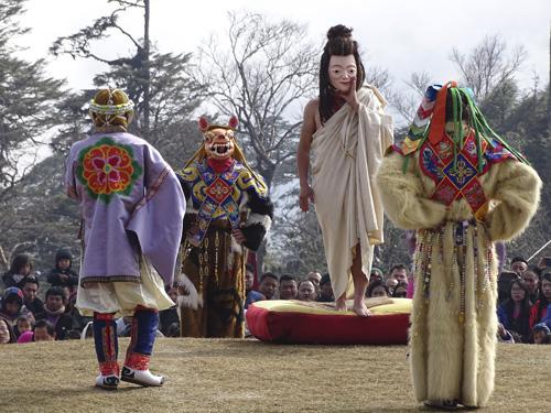 Festival en Dochula