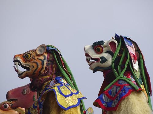 Máscaras en Bután