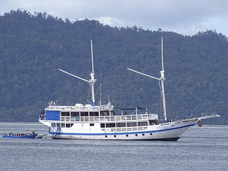 Vida a bordo en Raja Ampat