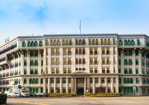 Antigua estación de policía en Singapur