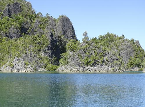 Formaciones kársticas en Raja Ampat