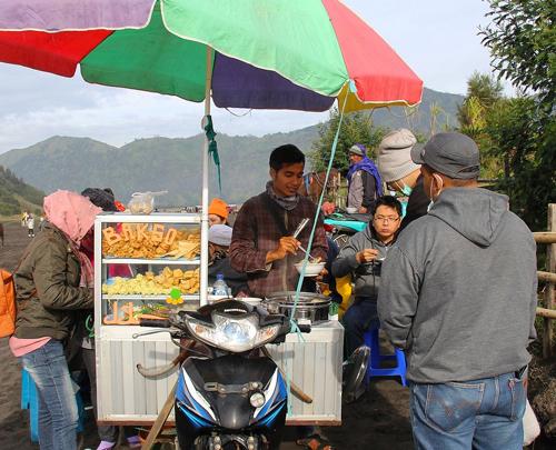 Comida local en Indonesia