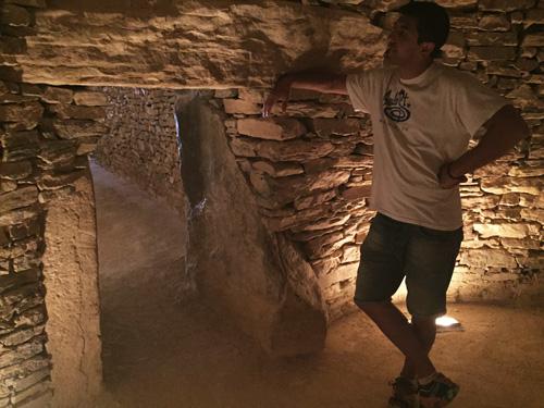 Interior de los dólmenes de Antequera