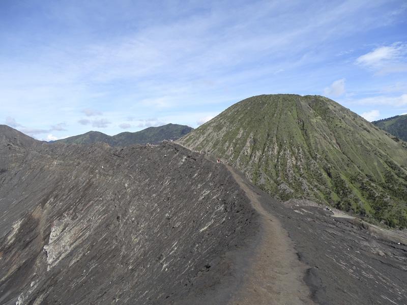 cresta del volcán Bromo