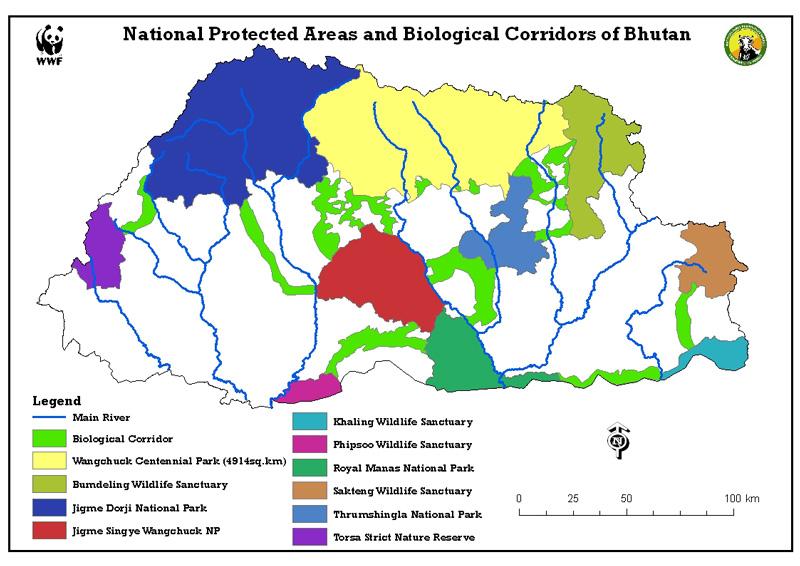 Corredores biológicos en Bután