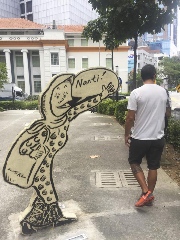 Cartoons in Kuala Lumpur