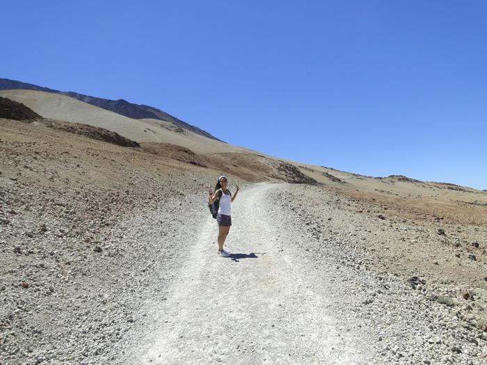 Inicio del ascenso por el sendero de Montaña Blanca
