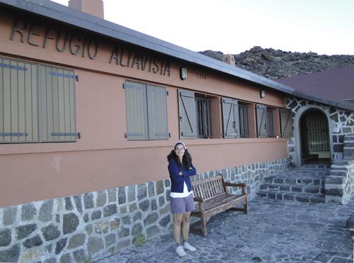 Refugio en el Teide