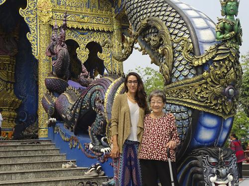 Templo azul en Tailandia
