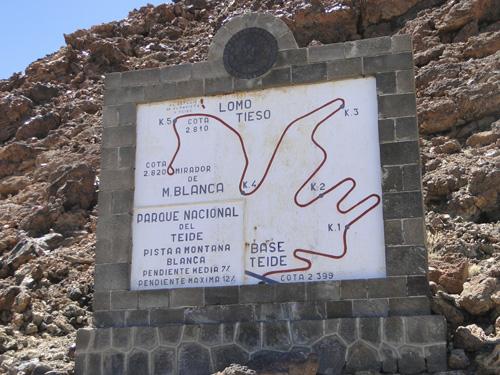 sendero para subir el Teide