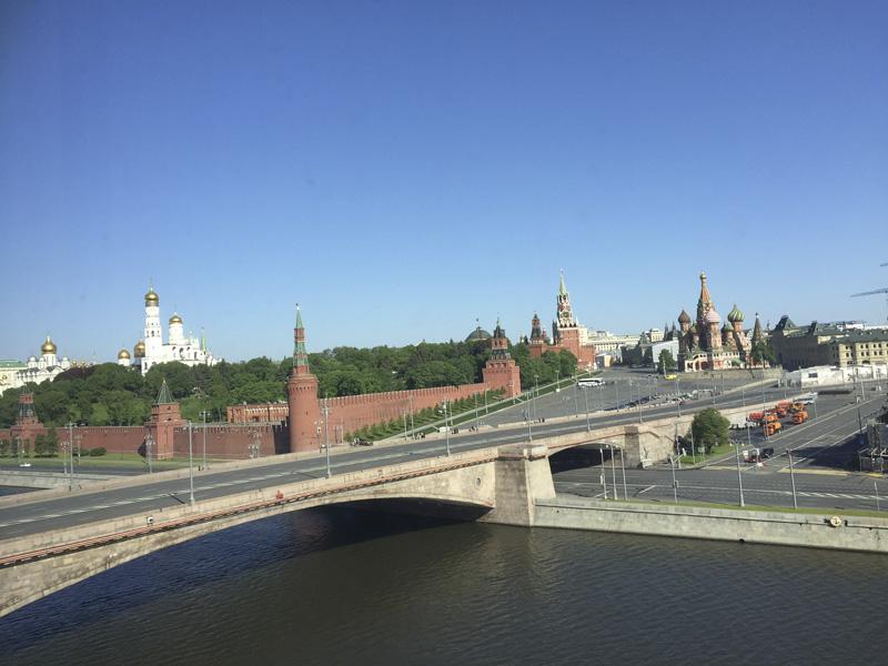 Vistas desde el hotel en Moscú